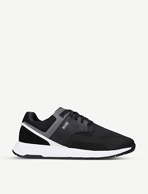 BOSS Titanium Runner mesh-knit trainers