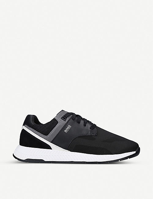 BOSS: Titanium Runner mesh-knit trainers