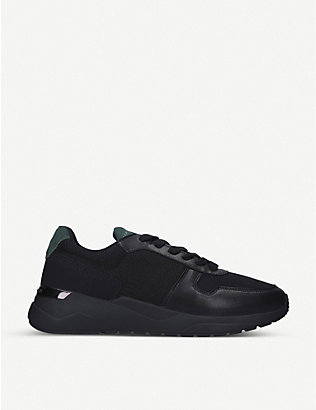 KG KURT GEIGER: Kenny faux-leather trainers