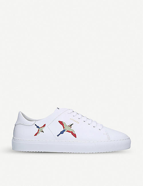 AXEL ARIGATO: Clean 90 bird-embroidered leather low-top trainers
