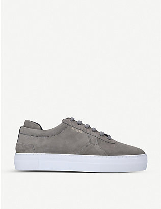 AXEL ARIGATO: Brand-embossed suede platform trainers