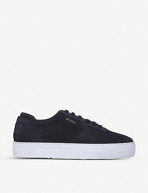 AXEL ARIGATO Brand-embossed suede platform trainers