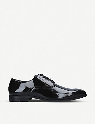 KG KURT GEIGER: Shadow patent-leather Derby shoes