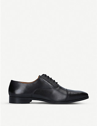 KG KURT GEIGER: Sami trimmed leather Oxford shoes