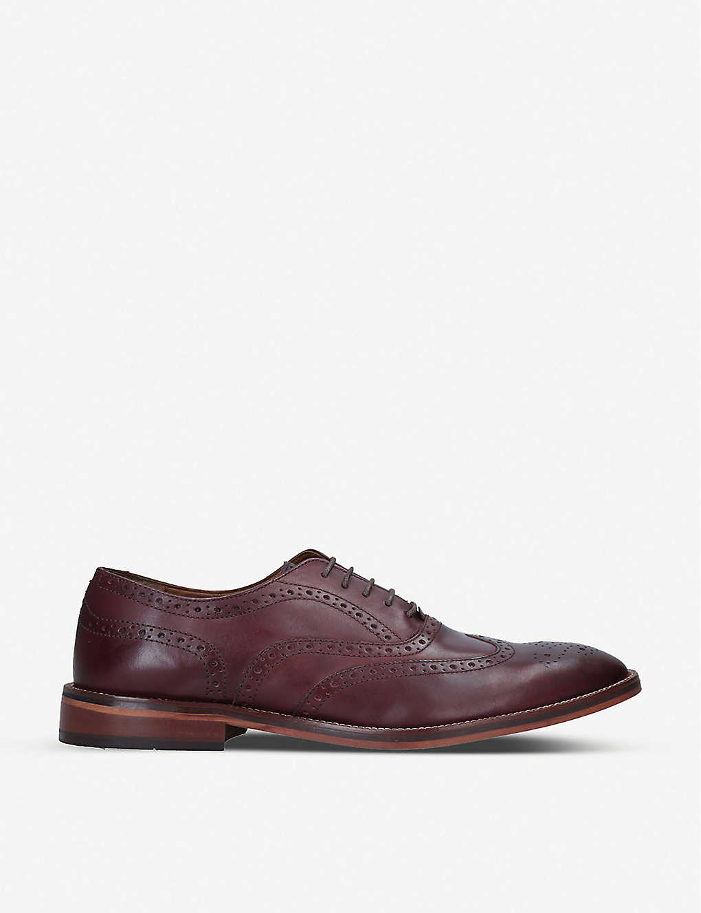 KG KURT GEIGER: Sky perforated leather brogues