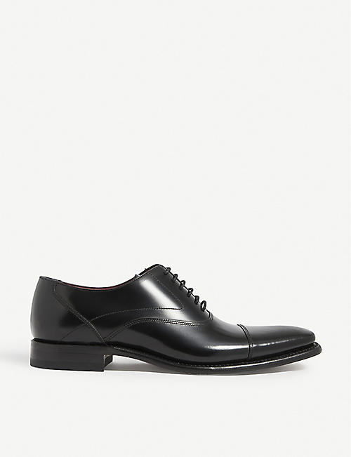 LOAKE: Sharp leather Oxford shoes