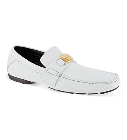 ... VERSACE Medusa leather loafers (White. PreviousNext fc8606f0323