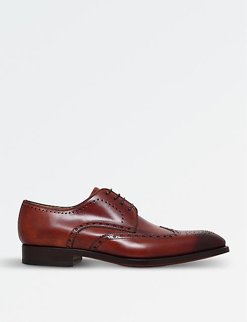 MAGNANNI Almond Derby brogues