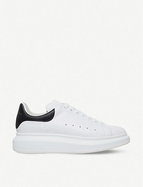 huge selection of dc0c6 1b436 ALEXANDER MCQUEEN Show leather platform trainers