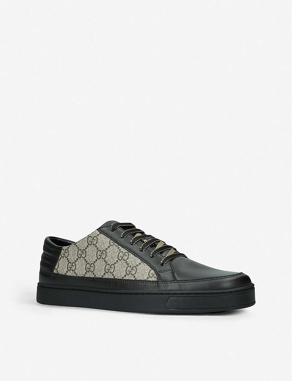 b00de5dcd9c ... Common GG Supreme leather and canvas trainers - Black ...