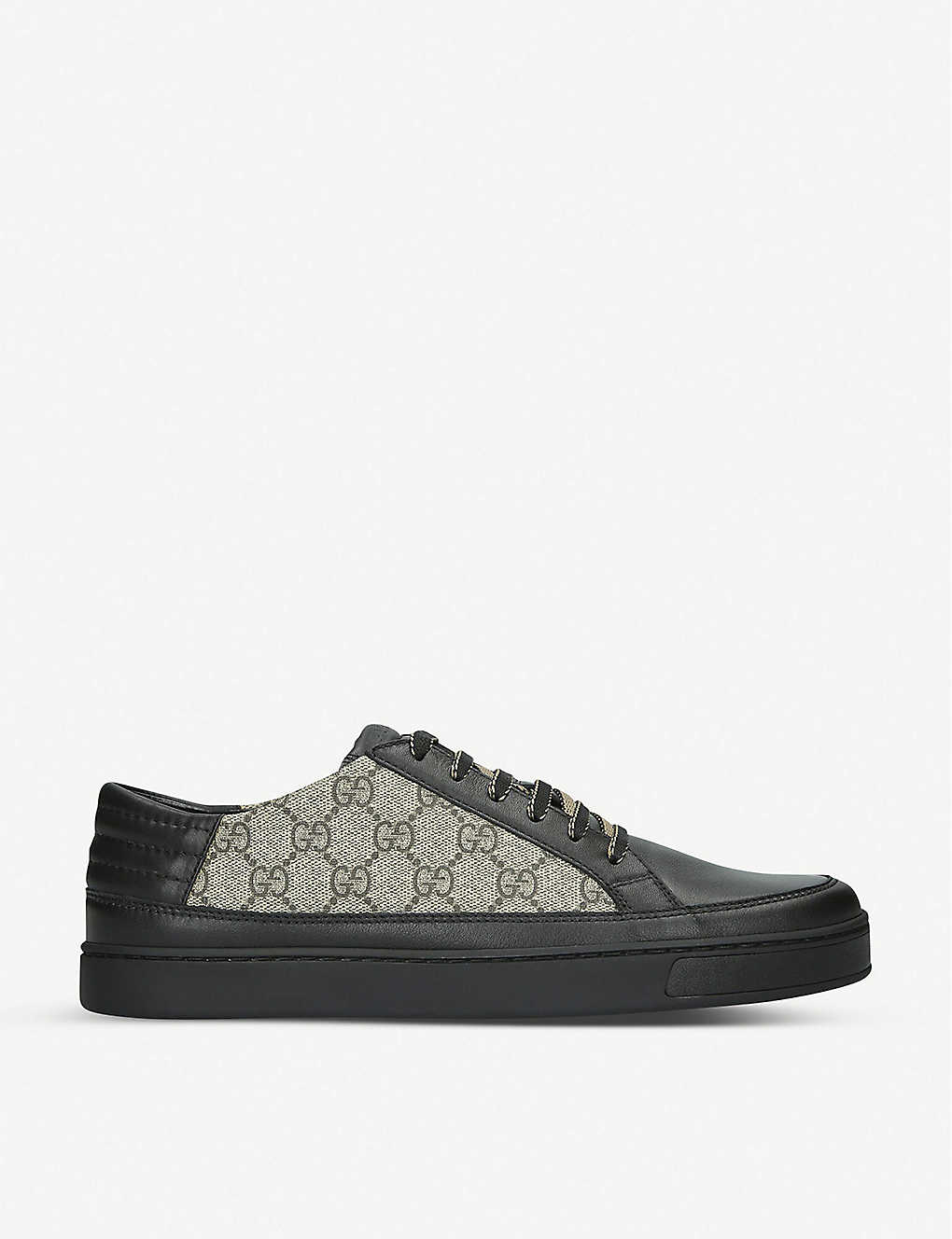 4909c0e0c61 Common GG Supreme leather and canvas trainers - Black ...