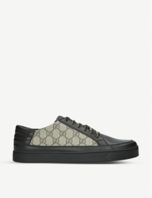 GUCCI Common GG Supreme leather and canvas trainers