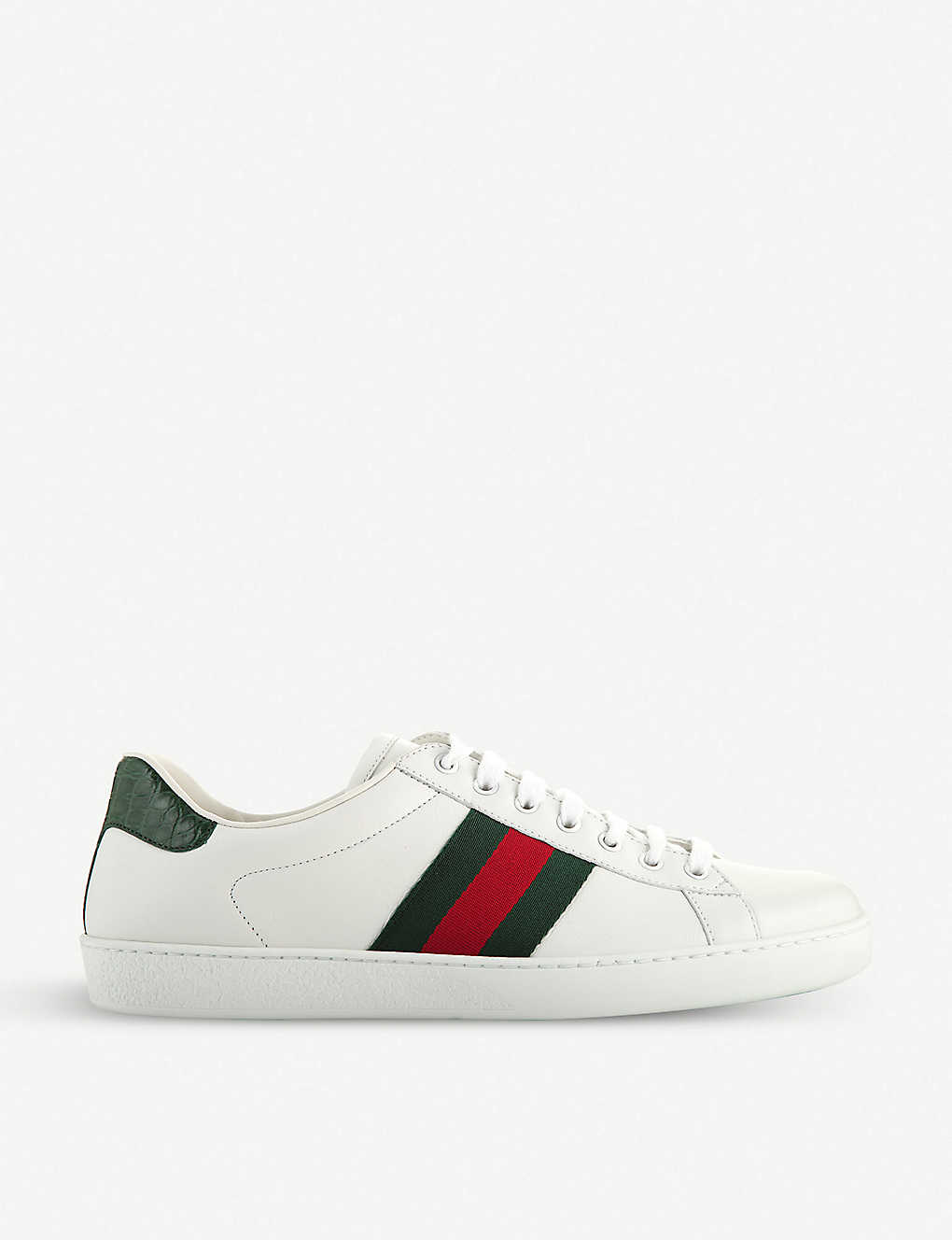 Gucci Shoes Ace webbing leather trainers