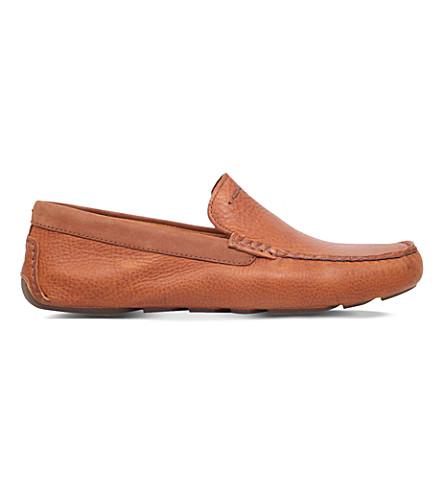 544a5cd5f1c UGG - Henrick grained-leather driver shoes | Selfridges.com