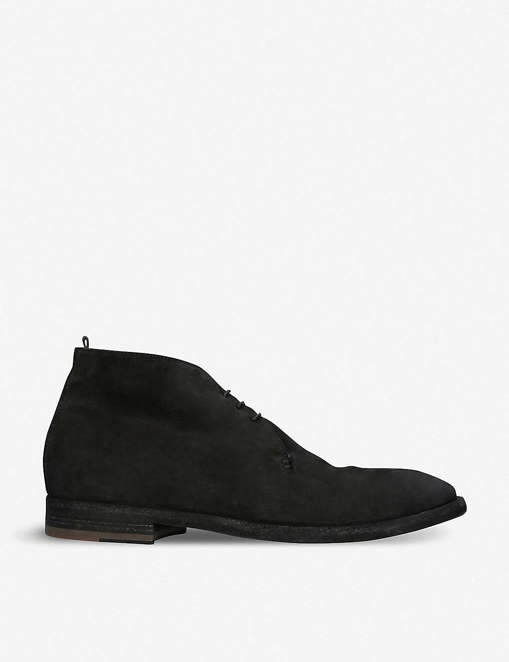 OFFICINE CREATIVE: 3-eye leather desert boots
