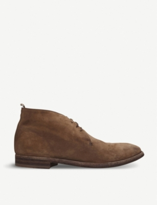 OFFICINE CREATIVE 3-eye suede desert boots