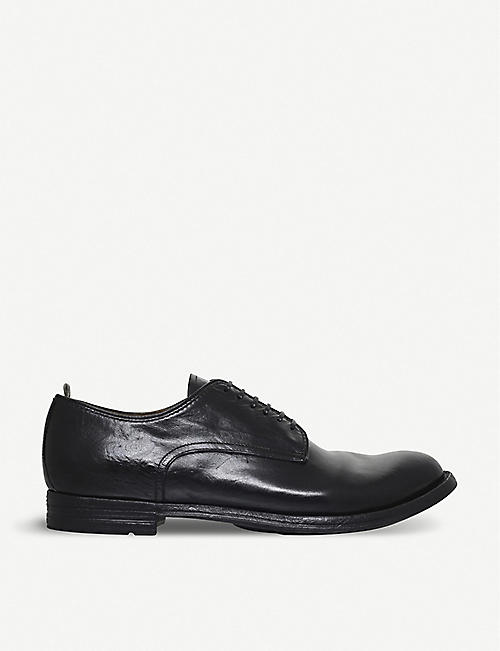 OFFICINE CREATIVE: 6-eyelet leather derby shoes