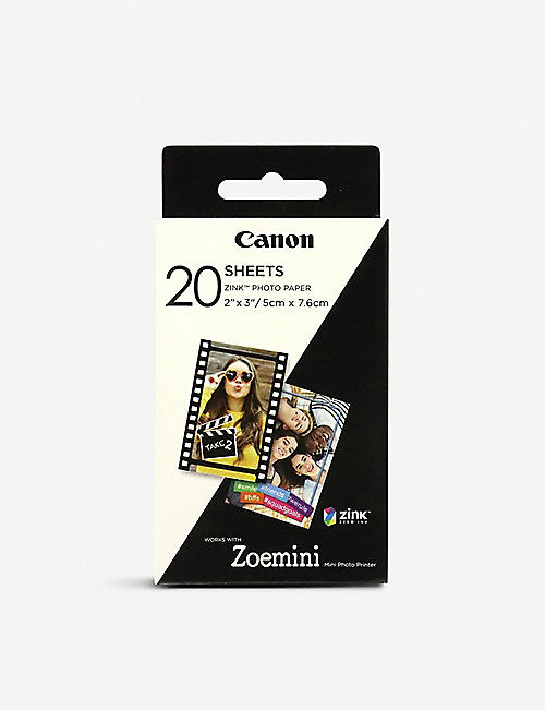 "CANON Canon ZINK™ 2""x3"" Photo Paper x 20 sheets"