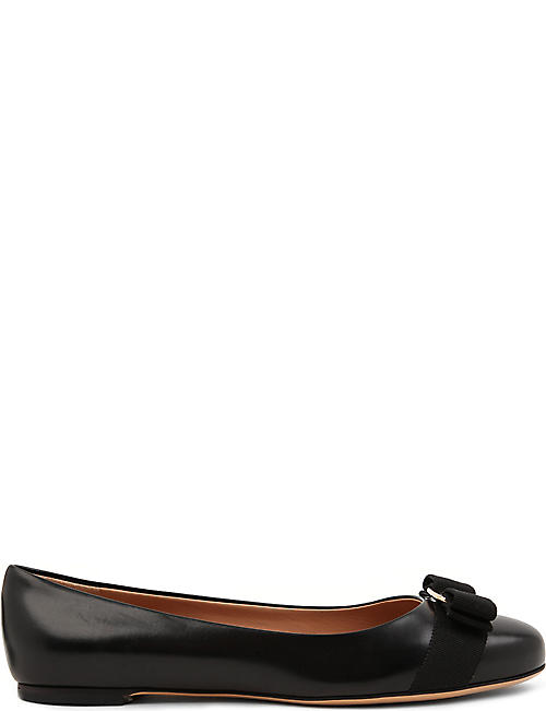 2e9aee79b507 SALVATORE FERRAGAMO Varina leather flats