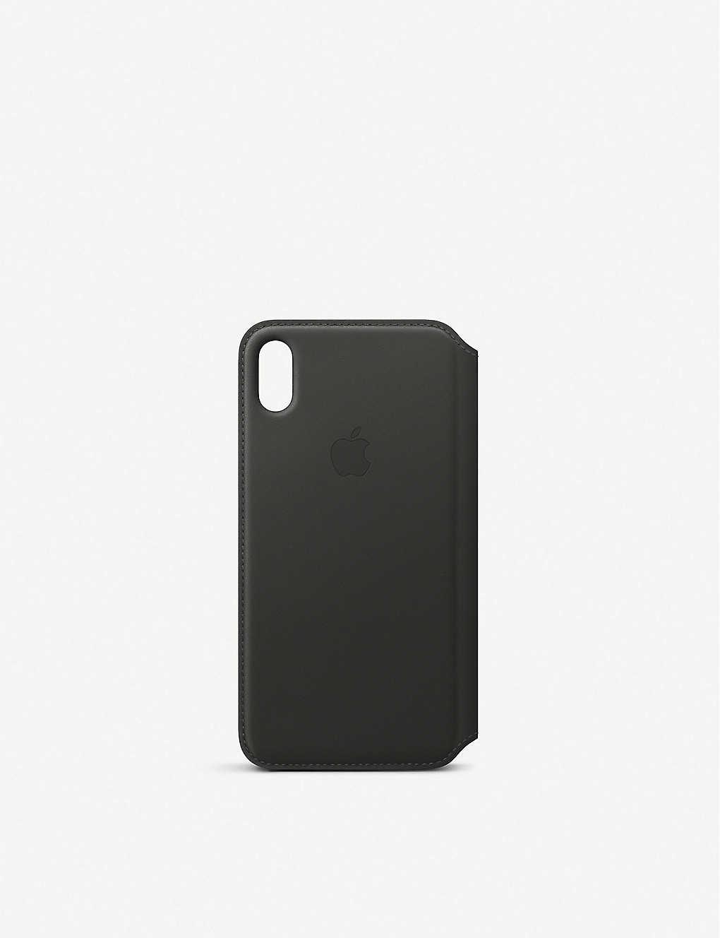 apple iphone xs max leather folio case