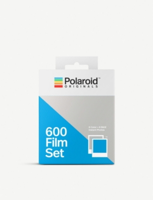 POLAROID ORIGINALS 600 instant film black and white and colour double pack