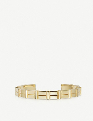 LINKS OF LONDON Brutalist yellow-gold vermeil cuff bracelet