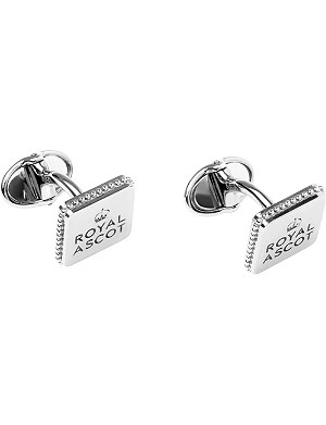 LINKS OF LONDON Ascot sterling silver royal logo cufflinks
