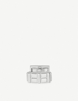 LINKS OF LONDON Brutalist sterling silver bar cufflinks
