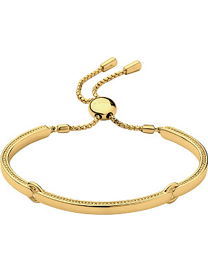 LINKS OF LONDON Narrative 18ct gold vermeil bracelet