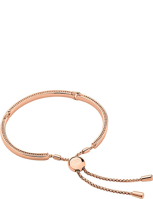 7476cf8fc LINKS OF LONDON Narrative 18ct rose gold vermeil bracelet