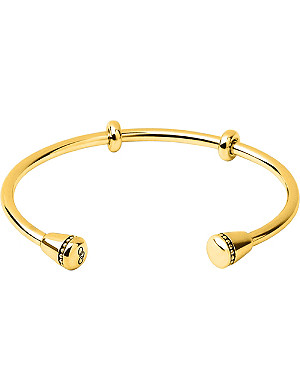 LINKS OF LONDON Narrative 18ct gold vermeil charm cuff