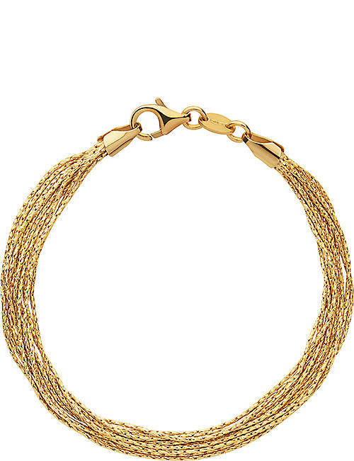 LINKS OF LONDON Essentials 18ct yellow gold-plated Silk 10 row bracelet