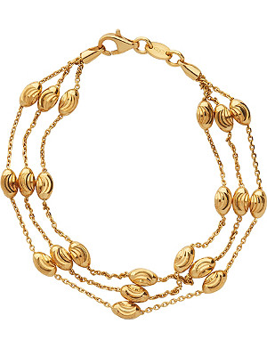 LINKS OF LONDON Essentials 18ct yellow gold-plated Beaded Chain 3-row bracelet