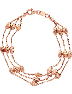 LINKS OF LONDON Essentials 18ct rose gold-plated Beaded Chain 3-row bracelet