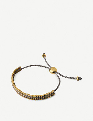 LINKS OF LONDON Mini 18ct yellow gold-vermeil friendship bracelet