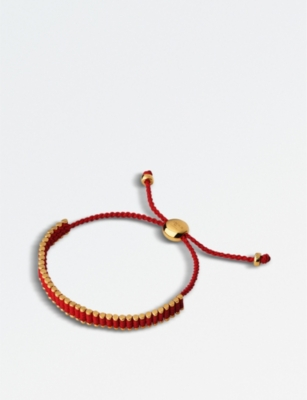 LINKS OF LONDON Woven cord and 18ct rose-gold vermeil friendship bracelet