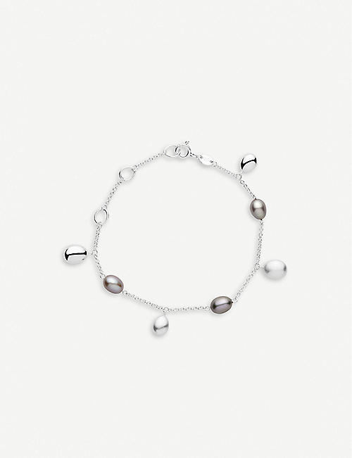 LINKS OF LONDON Hope sterling silver and grey pearl bracelet