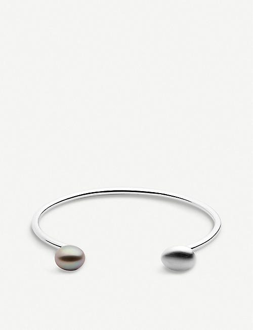 LINKS OF LONDON Hope sterling silver and pearl cuff