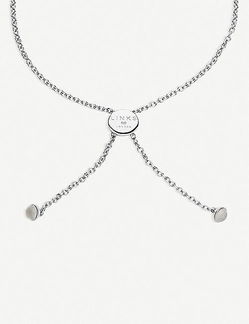 Beautiful Ladies Boxed Brand New Bangle White Black Bracelet By Buckingham Silver
