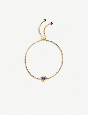 LINKS OF LONDON 18ct yellow-gold vermeil and lapis lazuli toggle bracelet