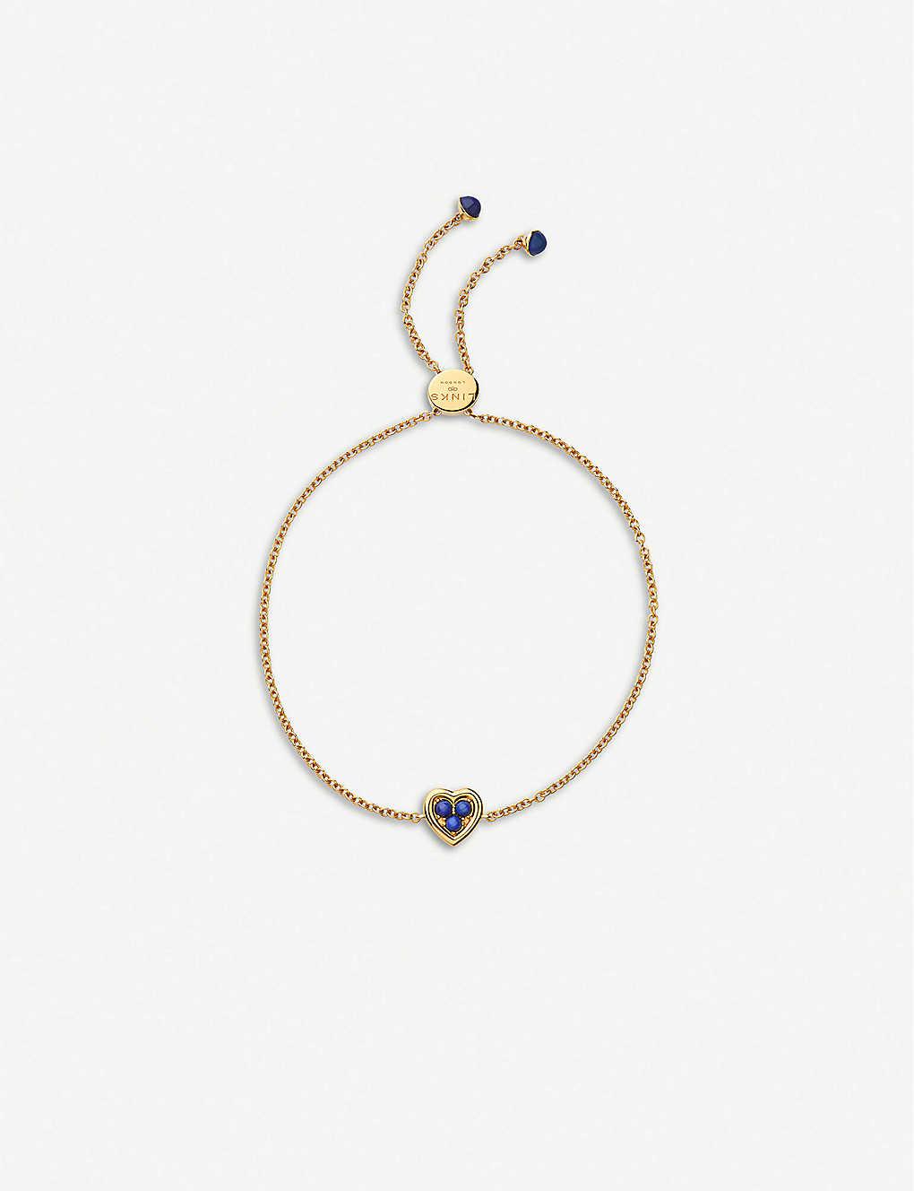 Links Of London 18ct Yellow Gold Vermeil And Lapis Lazuli Toggle Bracelet Selfridges Com