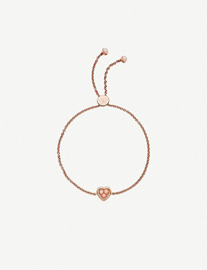 LINKS OF LONDON 18ct rose-gold vermeil and pink opal toggle bracelet