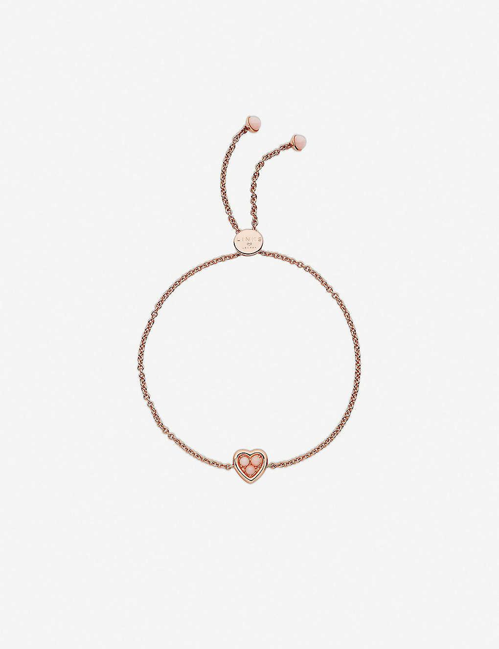 Links Of London 18ct Rose Gold Vermeil And Pink Opal Toggle Bracelet Selfridges Com