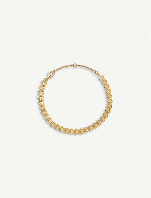 LINKS OF LONDON Mini hearts 18ct yellow-gold vermeil bracelet
