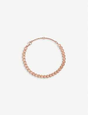 LINKS OF LONDON Mini hearts 18ct rose-gold vermeil bracelet