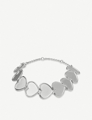 LINKS OF LONDON Heart 18ct sterling silver bracelet