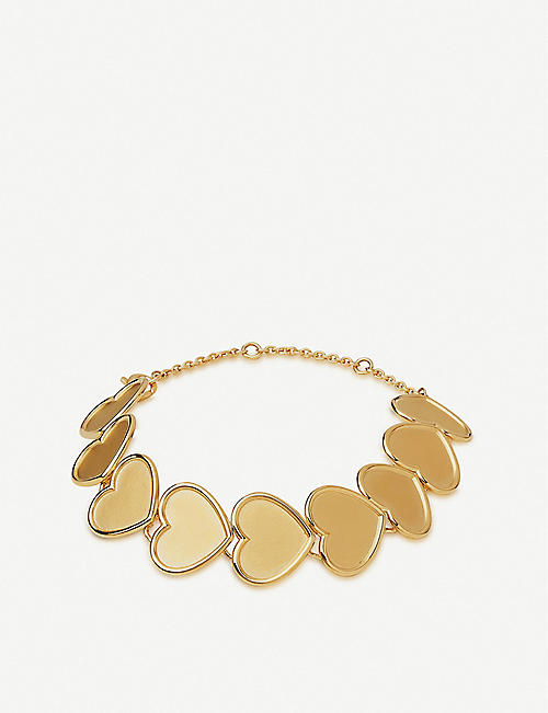 LINKS OF LONDON Heart 18ct yellow-gold vermeil bracelet