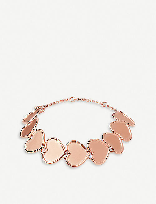 LINKS OF LONDON Heart 18ct rose-gold vermeil bracelet