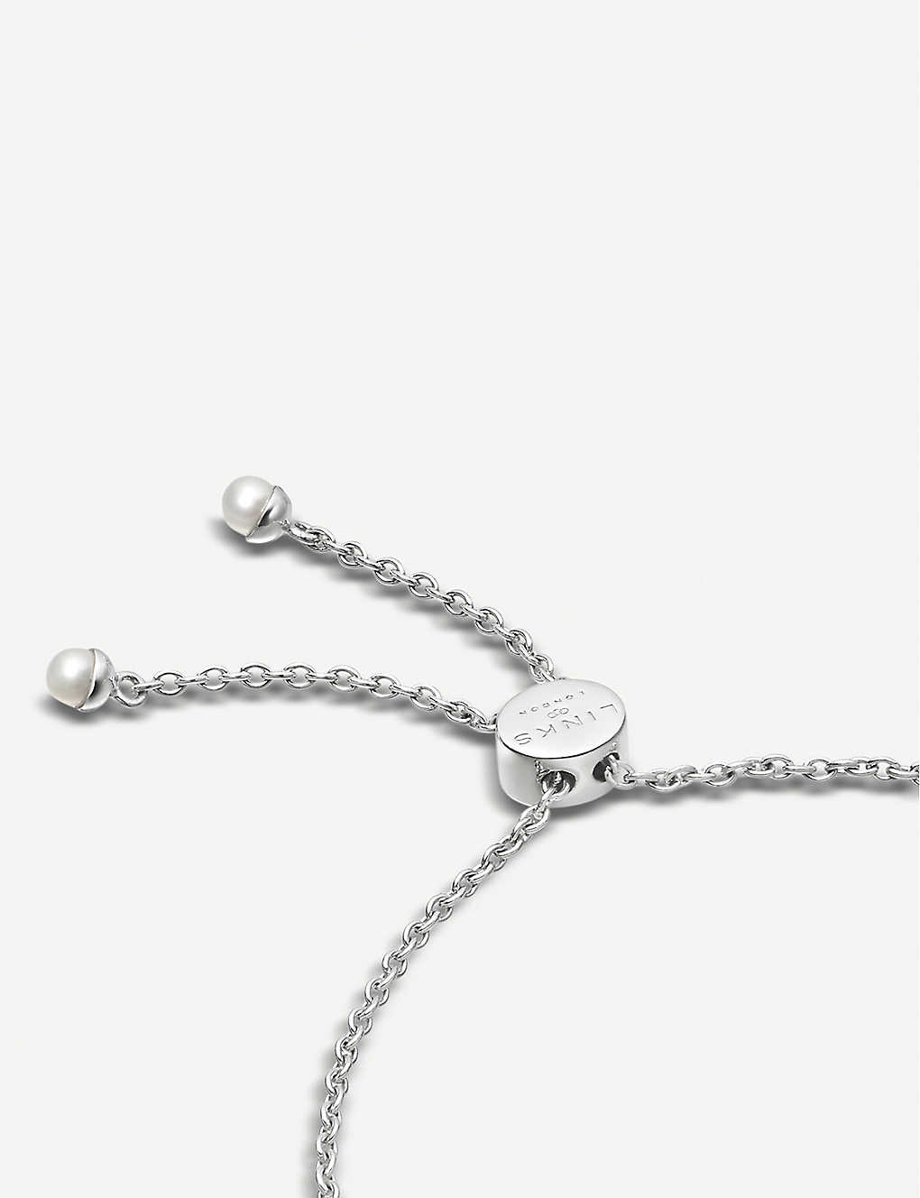 6b0695fd4c8fe3 LINKS OF LONDON - Orbs sterling silver and pearl toggle bracelet ...