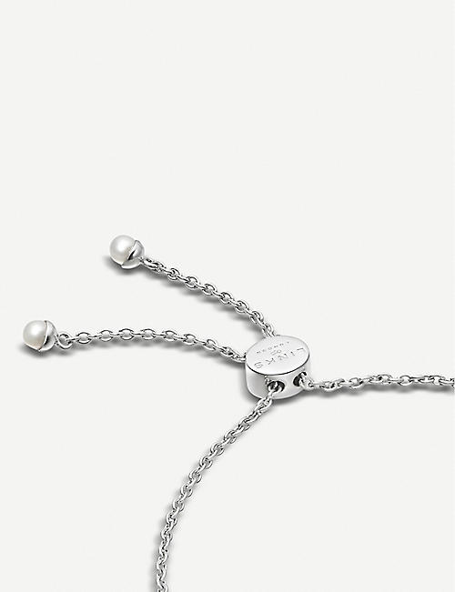 LINKS OF LONDON Orbs sterling silver and pearl toggle bracelet